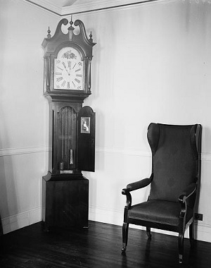 Grandfather Clock and Armchair, Library of Congress