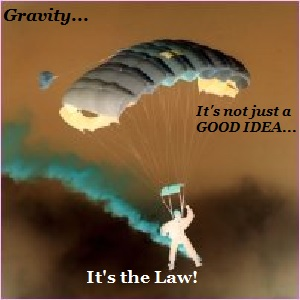 Who enacted the law of gravity?