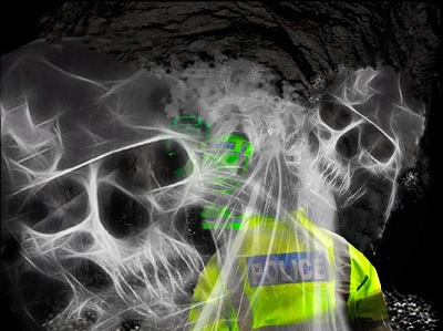 Policemen in tunnels searching for ghouls. But do they really want to find them?