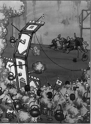Heath Robinson's idea of how to make a war movie. He should talk to Spielberg.