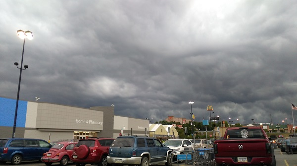 Storm clouds over the Walmart