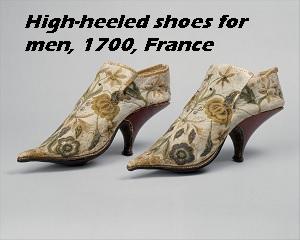 High-heeled men's shoes, 1700