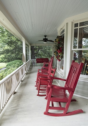 Rockers on a Porch by Carol M Highsmith.