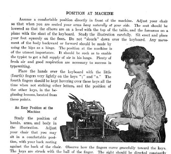 How to Type in 1916