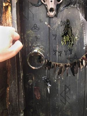 A scary door.
