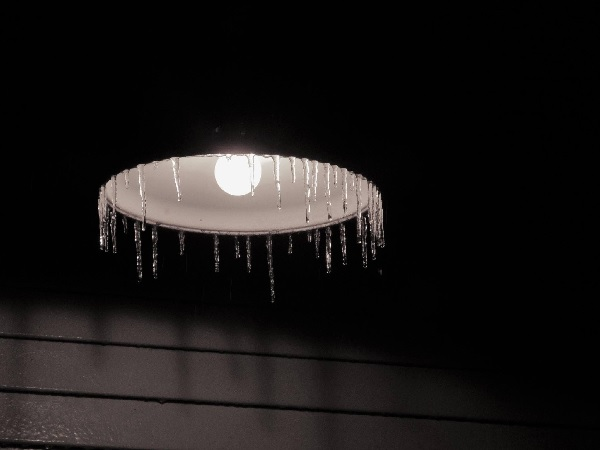 Icicles and light.