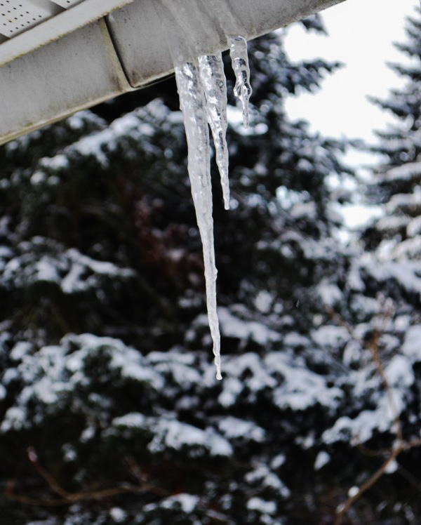 When icicles hang by the wall