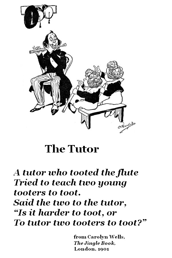 Teaching two tooters to toot by artist Oliver Herford and 'poet' Carolyn Wells