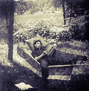 Lazy man in hammock