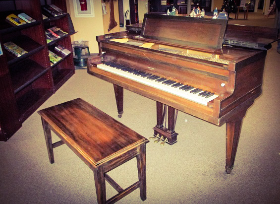 The library's new piano.