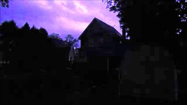 Lightning Over Houses by Dmitri Gheorgheni