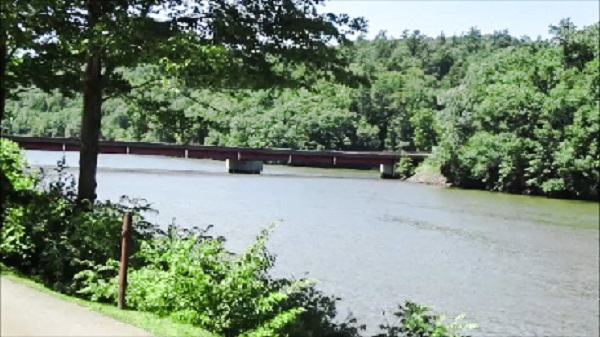 Low Bridge over the Clarion River by DG