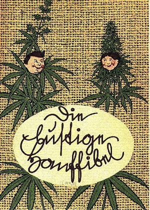 The cover of a book urging Germans to grow hemp during World War II. It's called 'The Fun Primer of Hemp-Growing
