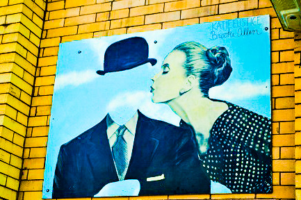 Magritte Tribute on Wall by DG