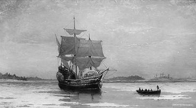 The Mayflower, a pilgrim ship