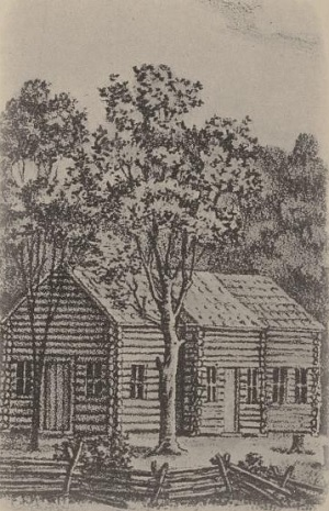 An actual public building in western Pennsylvania in the 1790s. You can imagine what the rest of the houses looked like.