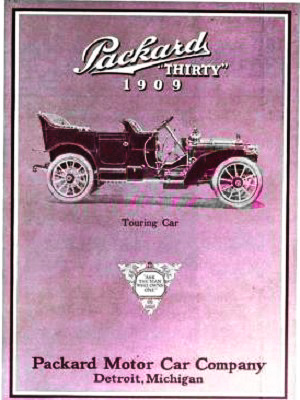 Ad for a Packard touring car, 1909