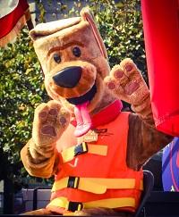 A parade mascot