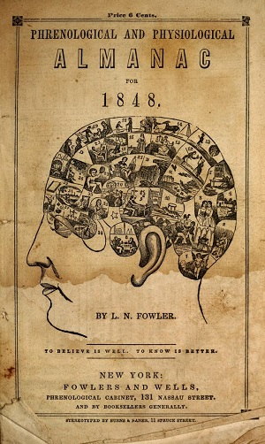 Cover of an 1848 Phrenology Almanac.