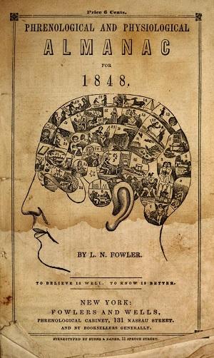 Cover of an 1848 Phrenology Almanac.