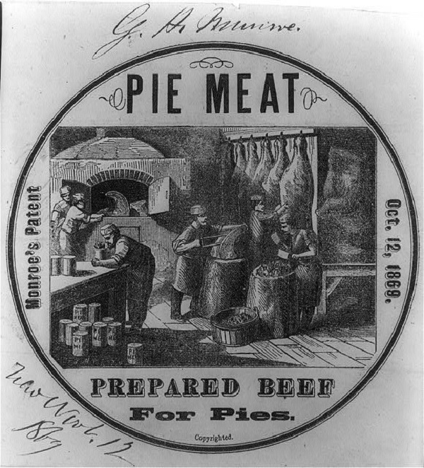 An advert for pie meat