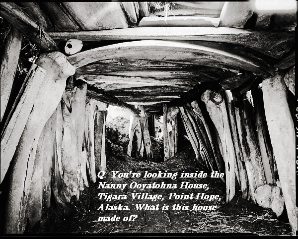 What is this Alaskan house made of? Hint: it's partially underground