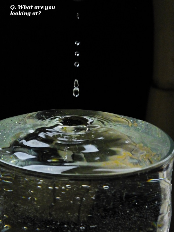 A quiz question involving water.