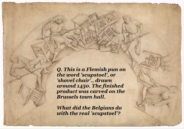 What did the 16th-century Belgians do with a scupstoel?