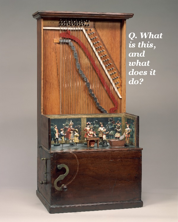 What does this strange-looking musical instrument do?