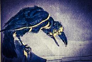 Raven Bust by Dmitri Gheorgheni