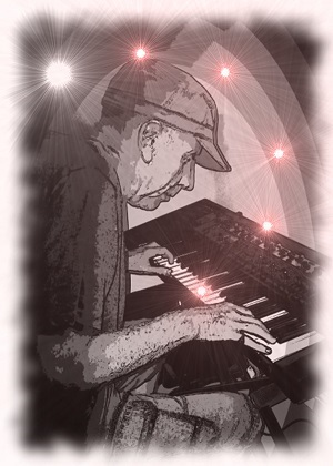 Player with a synthesiser