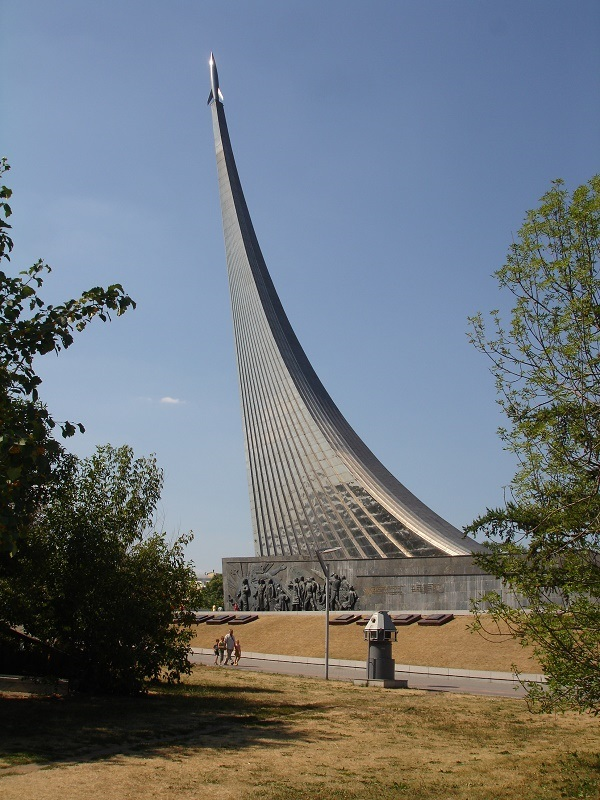 A Russian space monument.