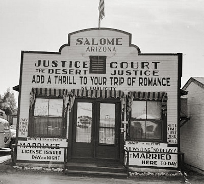 Where to get married in Salome, Arizona.