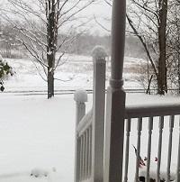 Snow in April.