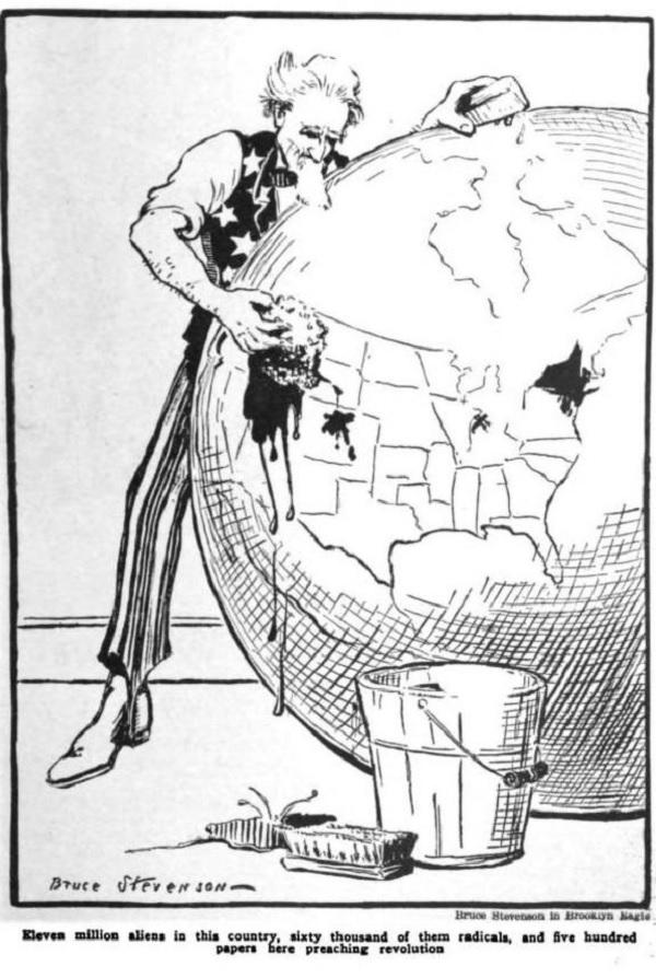 An anti-immigrant cartoon