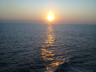 Sunset over the Aegean