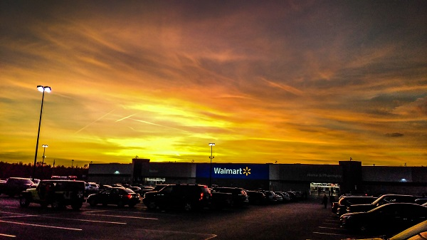 Sunset Over the Walmart by Dmitri Gheorgheni