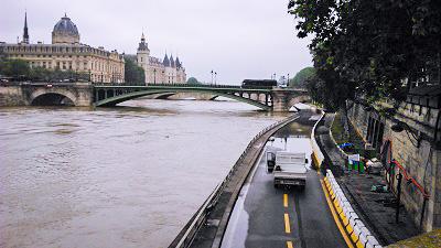 Flooding in Paris 2016.