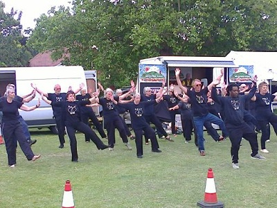 Tai Chi at the summer fair.