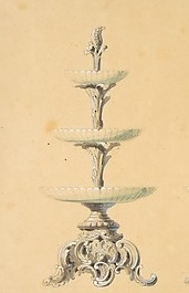 A tiered dish.