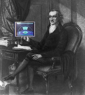 Tom Paine armed with an iPad.