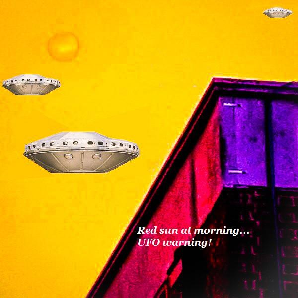 UFOs landing during Hurricane Ophelia.