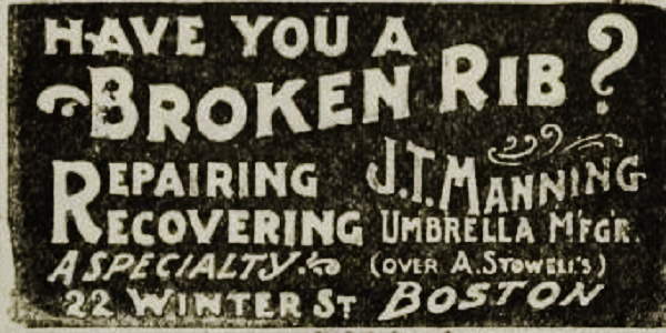 Umbrella Advert from 1905