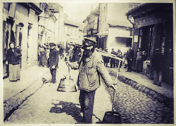 A water carrier in the Vilna ghetto.