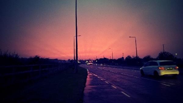 A weird sky by FWR.