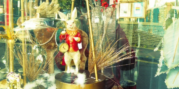 A White Rabbit with a pocketwatch