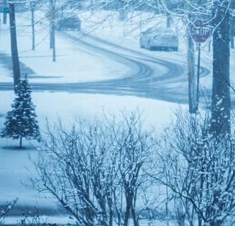 Snow. Cars.
