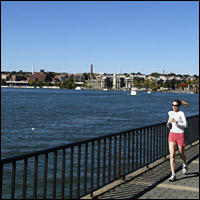 A jogger along the Potomac River.