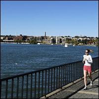 A jogger along the Potomac River.
