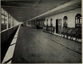 Promenade deck of RMS Titanic.